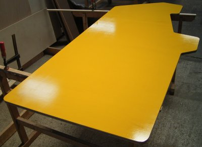 The yellow finish